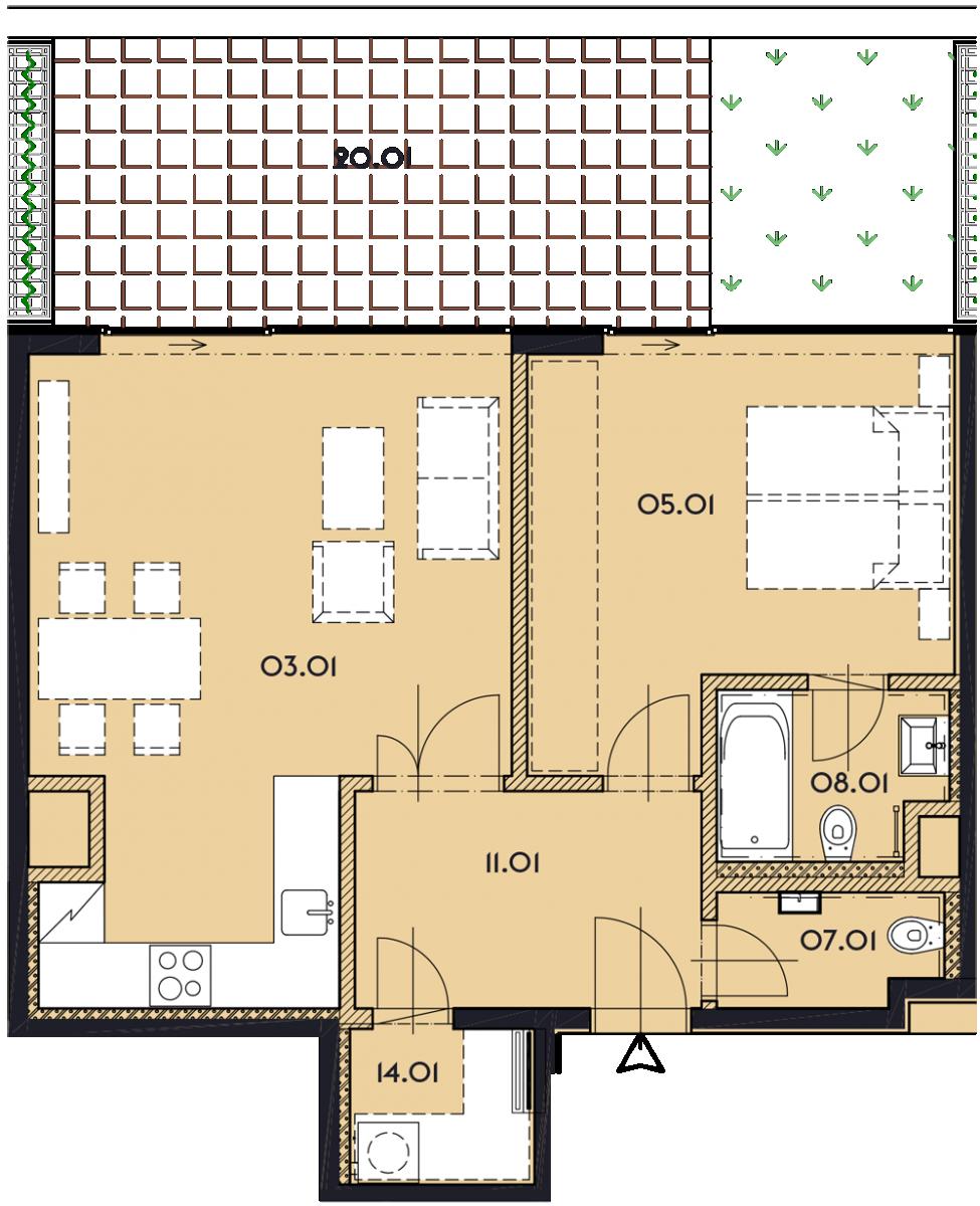Резиденция «Марина Бульвар» ID 1131