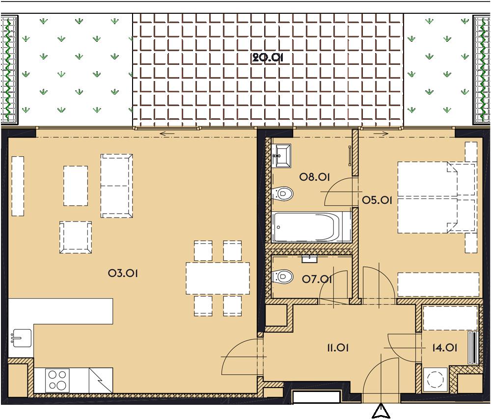 Резиденция «Марина Бульвар» ID 1163
