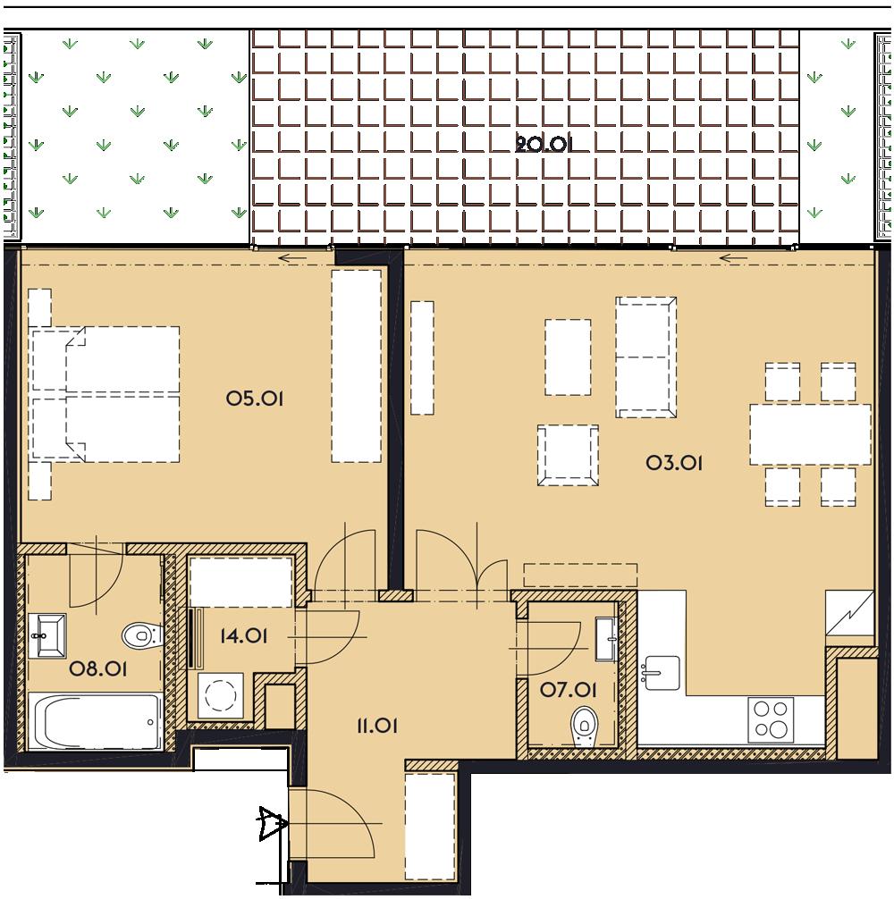 Резиденция «Марина Бульвар» ID 1138